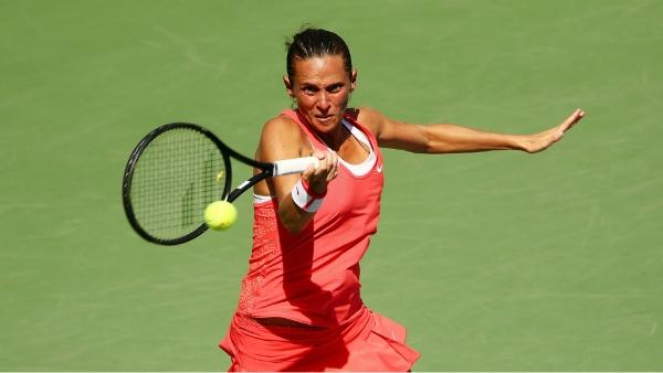 Roberta Vinci tenista profesional paciente fisioterapia deportiva en la Clínica J.J. Boscà